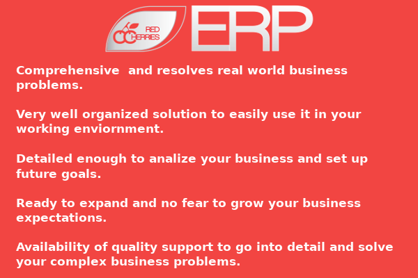 Red Cherries ERP is an all-in-one online ERP system