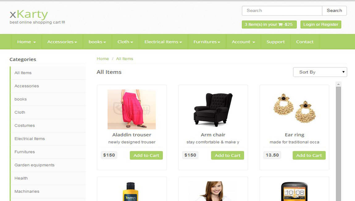 xKarty E-Commerce PHP Shpping Cart