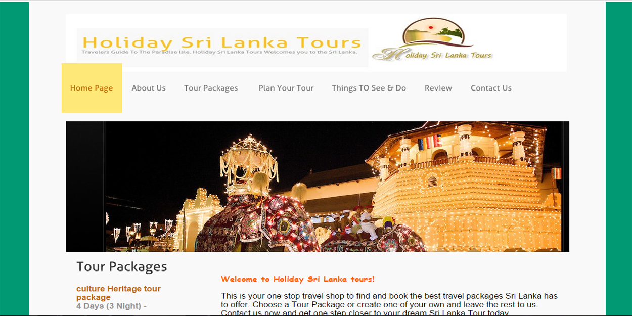 holiday sri lanka tours